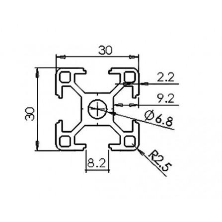 Конструктивен алуминиев профил - 30х30